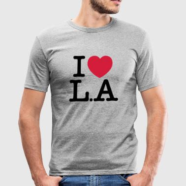 I Love Los Angeles I Love L.A - T-shirt près du corps Homme