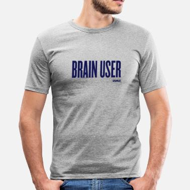 User brain user by wam - Slim Fit T-shirt herr