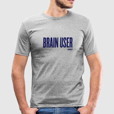 brain user by wam - Slim Fit T-skjorte for menn