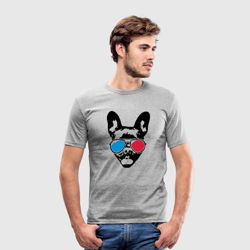 Cool Bulldog - 3D - Men's Slim Fit T-Shirt