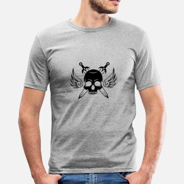 Tattoo Addicted Tattoo skull - Men's Slim Fit T-Shirt