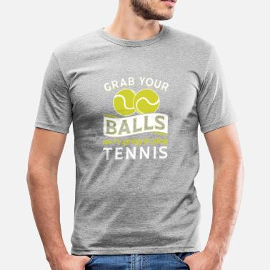 Grappige Tennis Pak je ballen We gaan tennisgift spelen - slim fit T-shirt