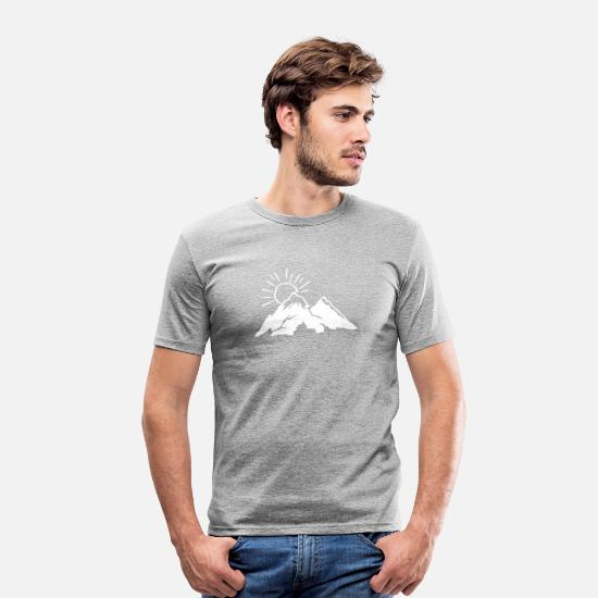 Hike T-Shirts - Climbing - Mountaineering - Mountains - Gift - Men's Slim Fit T-Shirt heather grey