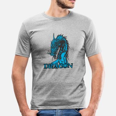 Agri agry looking dragon - Men's Slim Fit T-Shirt