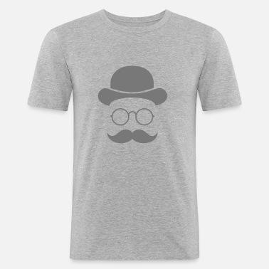 Rolig vintage ansikte med mustasch och glasögon Fotbollsshorts herr ... 296b26f83a823
