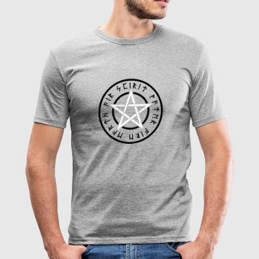 WICCA PENTAGRAM - Männer Slim Fit T-Shirt