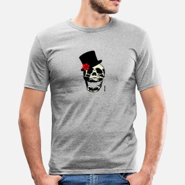 Chapeau tete de mort chapeau - Men's Slim Fit T-Shirt