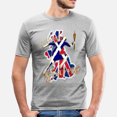 Scotland Sport scotland saltire uk sport torch runner - Men's Slim Fit T-Shirt