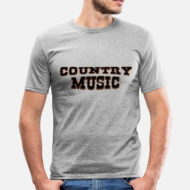 Country Music country music - Slim Fit T-skjorte for menn