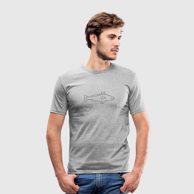 3-pointed stickleback fish - Men's Slim Fit T-Shirt