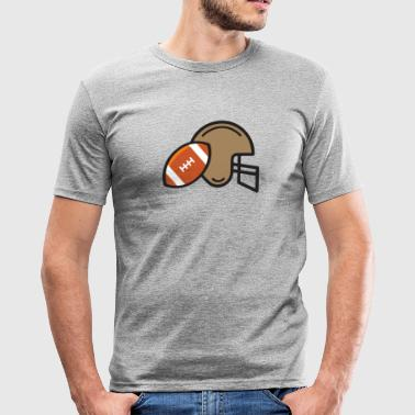 American Football Helm  - Männer Slim Fit T-Shirt