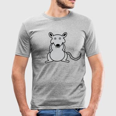 Rats Rat | Rodents | Cheese Mouse cage comic - Men's Slim Fit T-Shirt