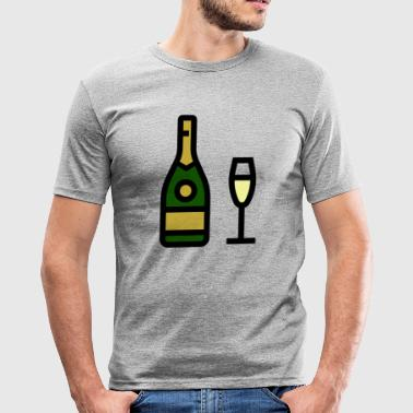 Sparkle Champagne glass, sparkling wine, champagne glass - Men's Slim Fit T-Shirt