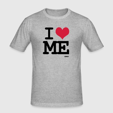 i love me - Slim Fit T-shirt herr