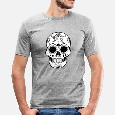 Dekorert Skull Dekorert - Slim fit T-skjorte for menn