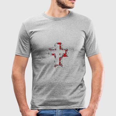 Kreuz Christ - Männer Slim Fit T-Shirt