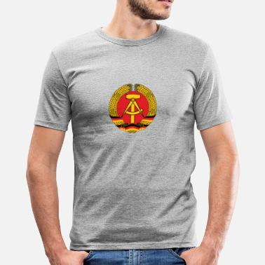 East National Coat of Arms of East Germany - Men's Slim Fit T-Shirt
