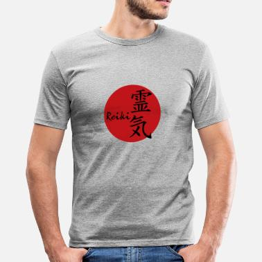Reiki REIKI - red - Männer Slim Fit T-Shirt