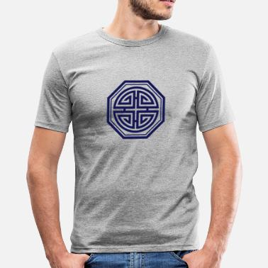 Charms Amulet Shou Four blessings, Chinese Good Luck Symbol, Amulet - Men's Slim Fit T-Shirt