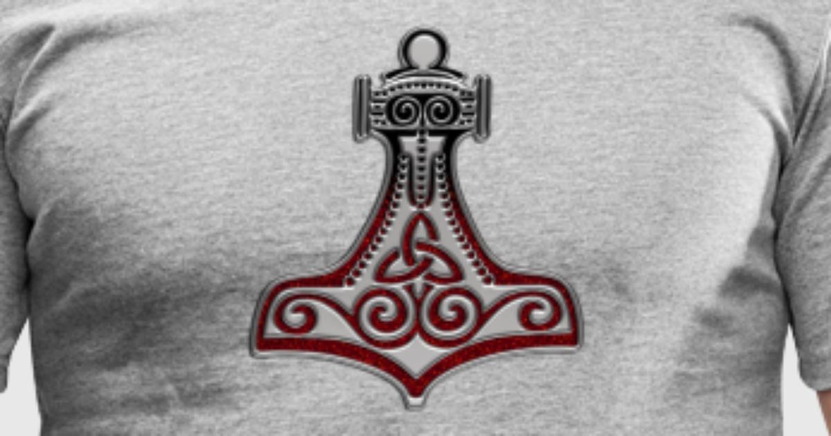 Thors Hammer Mjolnir Mjlnir Amulett Amulet Symbol Force