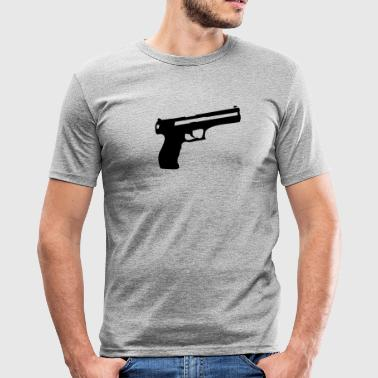 Pistol Gun våpen - Slim Fit T-skjorte for menn