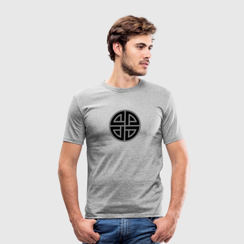 Viking Celtic shield knot, Protection Amulet, - Men's Slim Fit T-Shirt