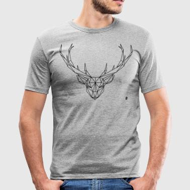 AD Geometric Deer - Männer Slim Fit T-Shirt