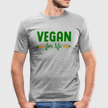 vegan for life - Männer Slim Fit T-Shirt