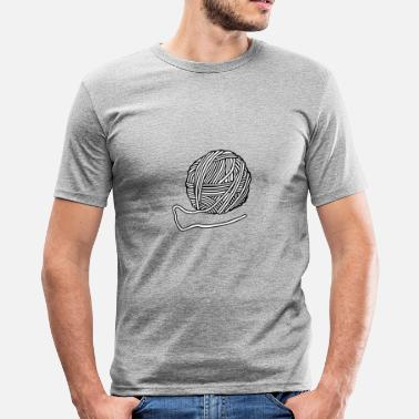 Wolle Wolle - Männer Slim Fit T-Shirt