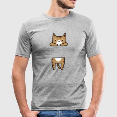 Cat Brown Fresco y dulce - Camiseta ajustada hombre
