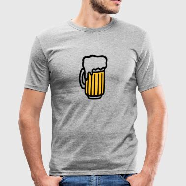 Bierglas - Männer Slim Fit T-Shirt