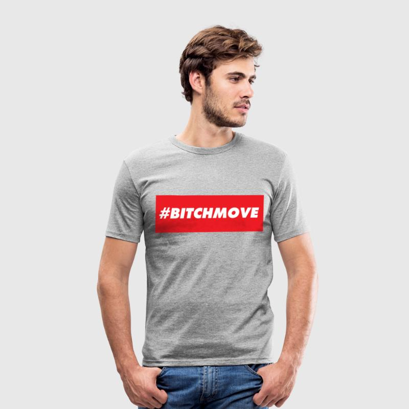 #BITCHMOVE - Männer Slim Fit T-Shirt