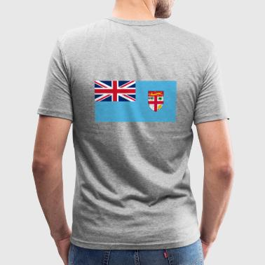 Nationale vlag van Frans-Polynesië - slim fit T-shirt