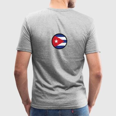 National flag of Cuba - Men's Slim Fit T-Shirt