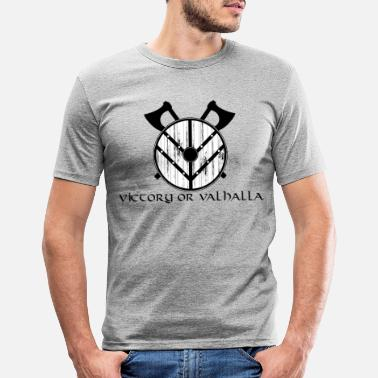 Shield | Vikings | Ax | Valhalla - Men's Slim Fit T-Shirt