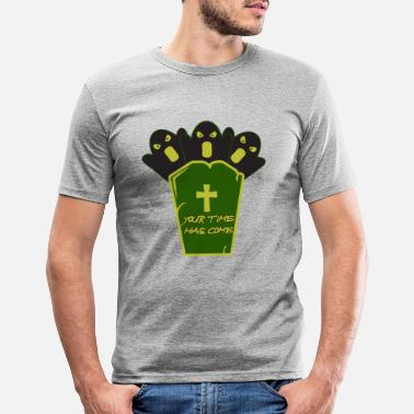 Grave Halloween on a grave - Halloween with a grave - Men's Slim Fit T-Shirt