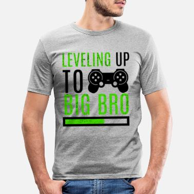 Big Big Brother Level Up Brothers Family Newborn - Men's Slim Fit T-Shirt