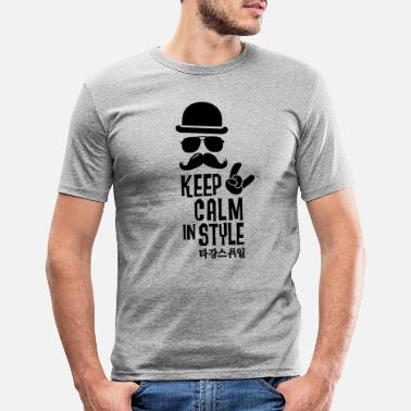 Like A Boss Like a keep calm in style moustache boss - Mannen slim fit T-shirt