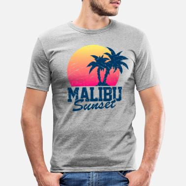 Malibu Sunset Malibu Vintage - Männer Slim Fit T-Shirt