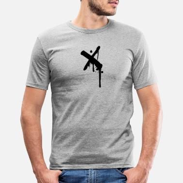 Graffiti X cross crosses graffiti drops spray - Men's Slim Fit T-Shirt