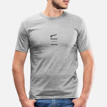 VIOLENCE FAIBLESSE removebg preview - Mannen slim fit T-shirt