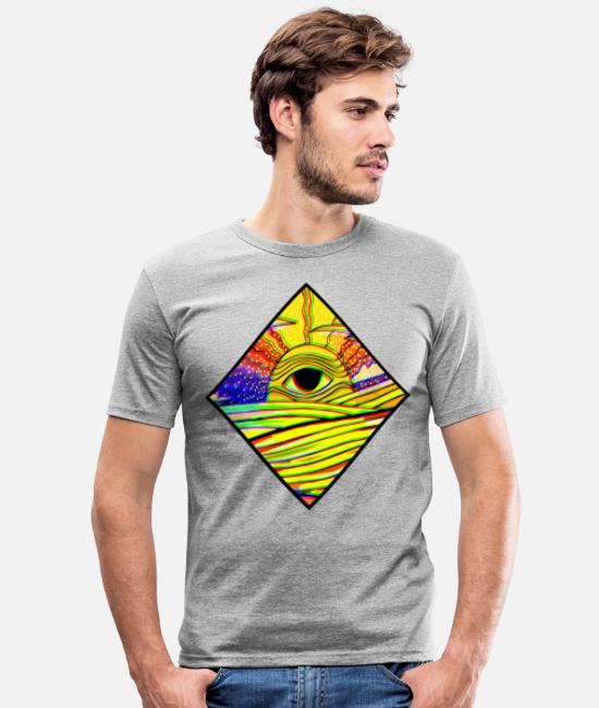 Hypnotic T-Shirts - Ethereal sun - Men's Slim Fit T-Shirt heather grey