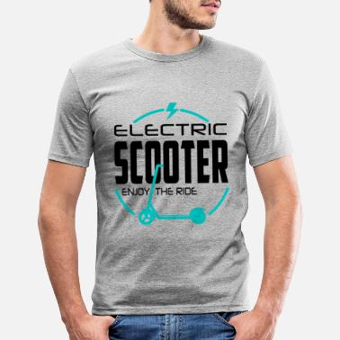Ritt Escooter Electricscooter Nyt ritten - Slim fit T-skjorte for menn