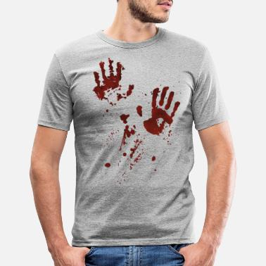 Blutig bloodyhands - Männer Slim Fit T-Shirt