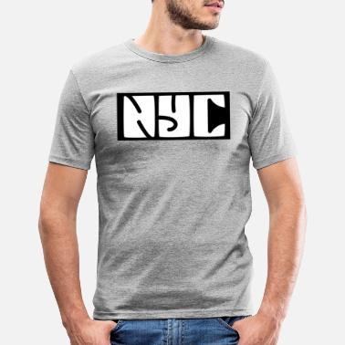 Ny New york - Mannen slim fit T-shirt