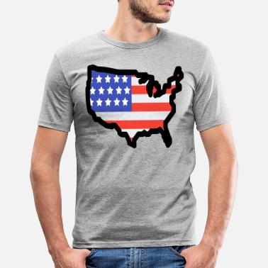State United States - Men's Slim Fit T-Shirt