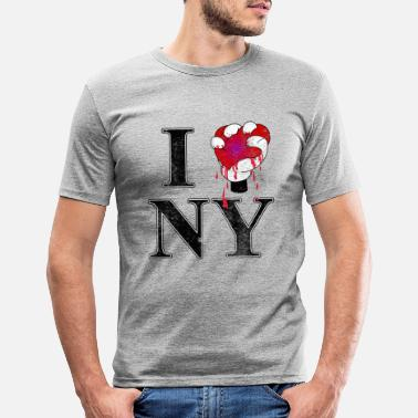 I Love Ny I Love NY - Männer Slim Fit T-Shirt