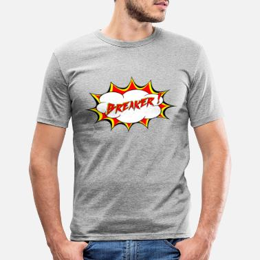 Breaker cartoon - Mannen slim fit T-shirt