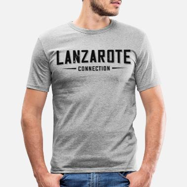 Holiday lanzarote 09 spain canary family holiday volcano - Men's Slim Fit T-Shirt