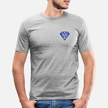 Diamant diamant - diamant - Slim fit T-skjorte for menn